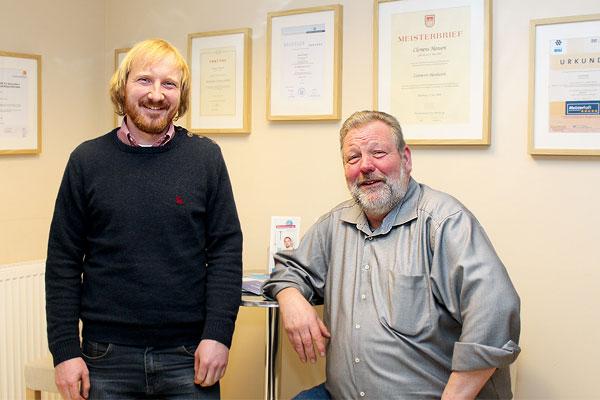 Clemens Hansen und Norbert Lanz